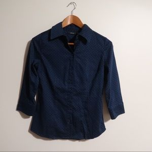 Apt 9 Navy blue button down shirt